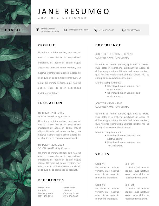 LACHESIS - Free Resume Template - ResumGO