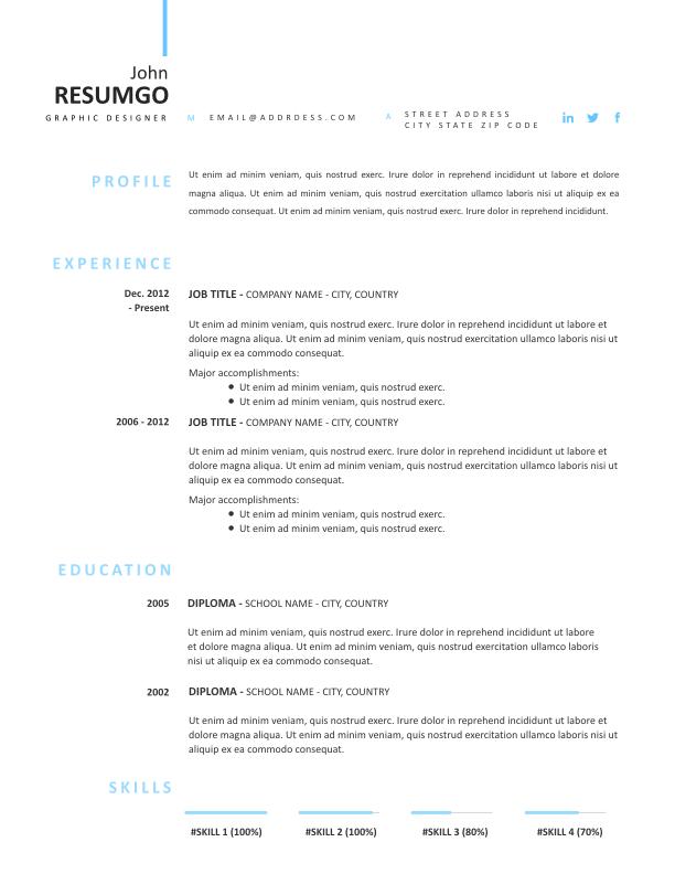 LEANDROS - Free Resume Template - ResumGO