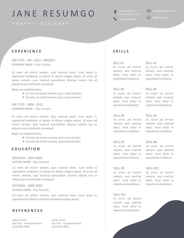 MELINA - Free Resume Template - ResumGO