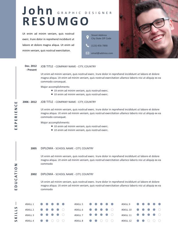 MNEME - Free Resume Template - ResumGO