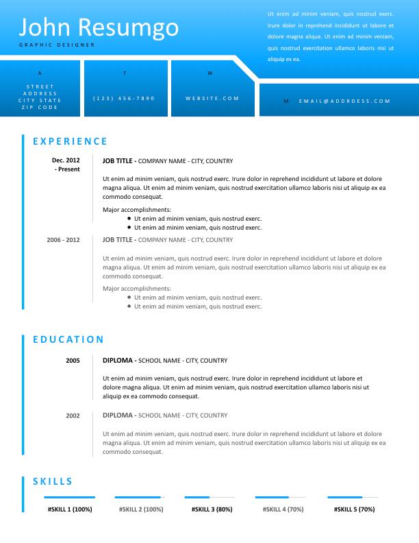 NEMESIS - Free Resume Template - ResumGO