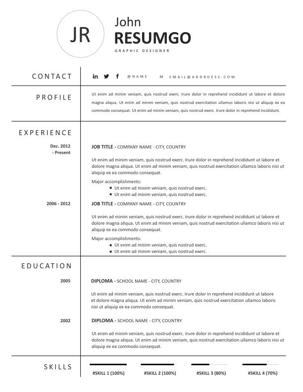 NOMIKI - Free Resume Template - ResumGO