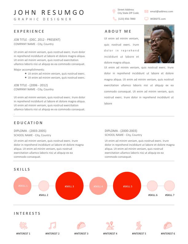 OEDIPUS - Free Resume Template - ResumGO