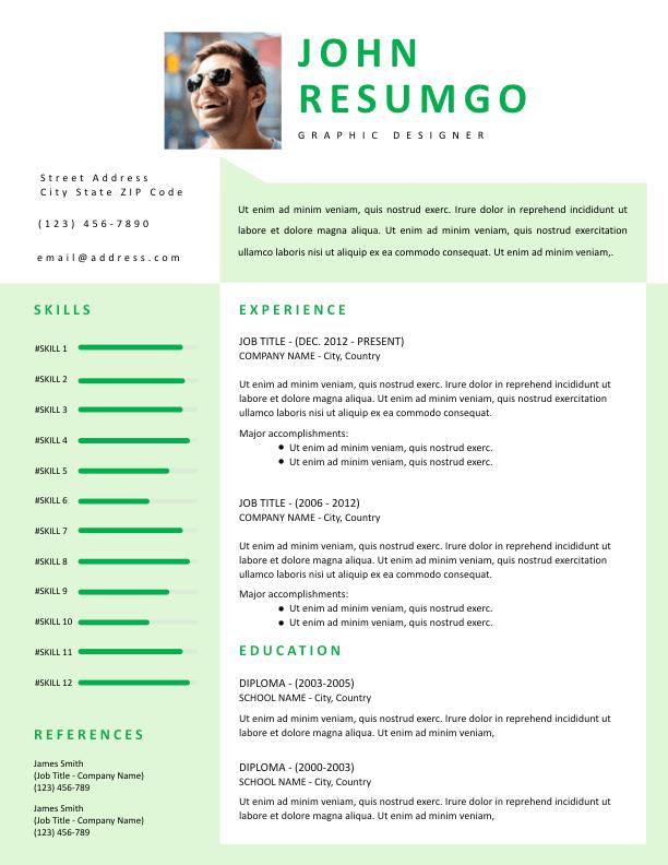 PERSIS - Free Resume Template - ResumGO