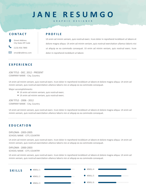 PHOTINE - Free Resume Template - ResumGO
