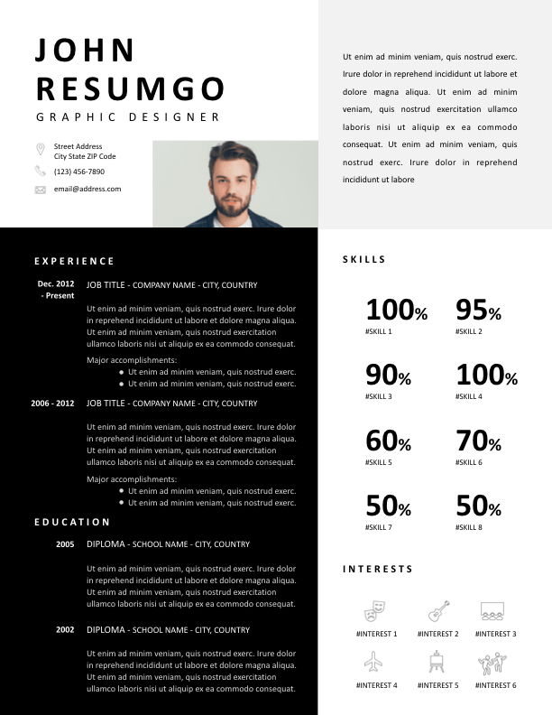 SOUSANNA - Free Resume Template - ResumGO