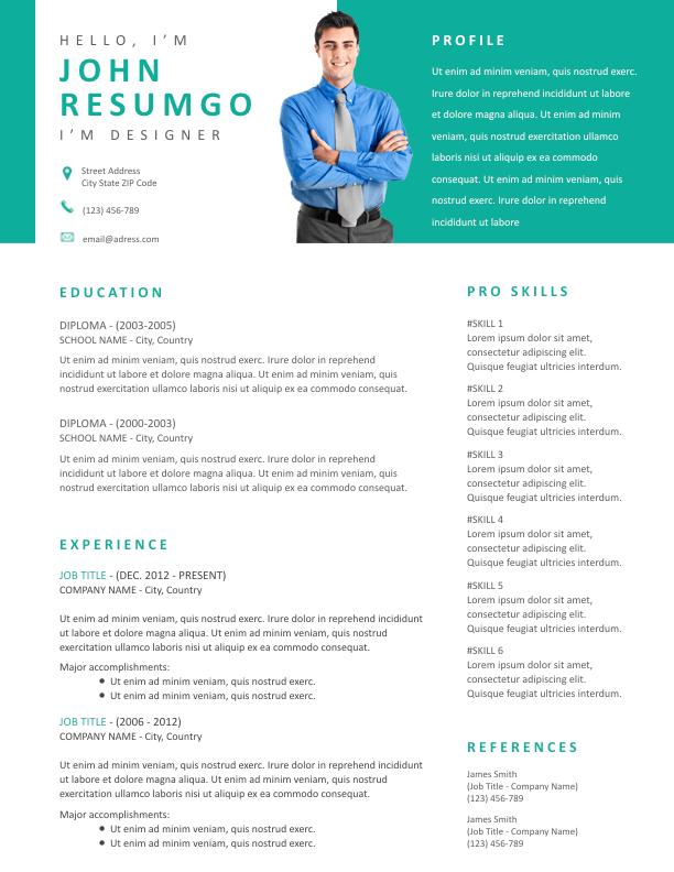 THAIS - Free Resume Template - ResumGO