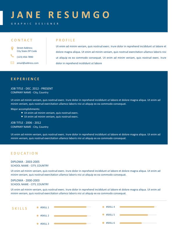THEKLA - Free Resume Template - ResumGO