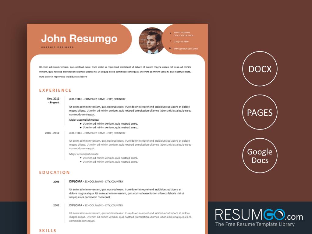 KALYPSO - Free Emberglow Modern Resume Template - ResumGO