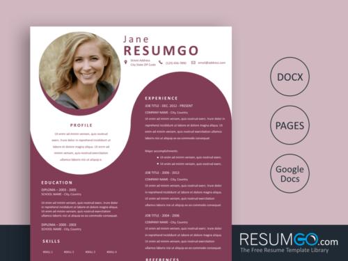 YANNI - Free Ruby Polar Resume Template - ResumGO
