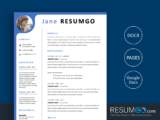 CYMONE - Free Modern Yet Professional Resume Template - ResumGO
