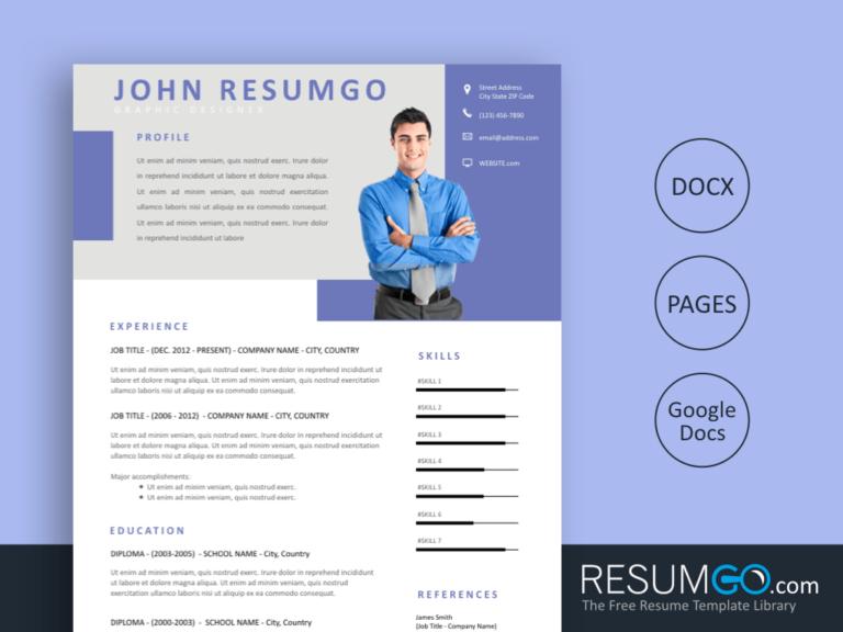 IOANNA - Free Professional Resume Template - ResumGO