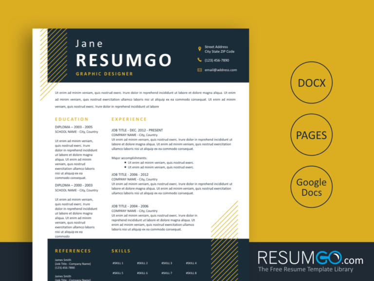 DORUS - Free Job-Winning Resume Template - ResumGO