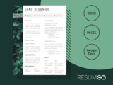 LACHESIS - Free Botanical Resume Template - ResumGO