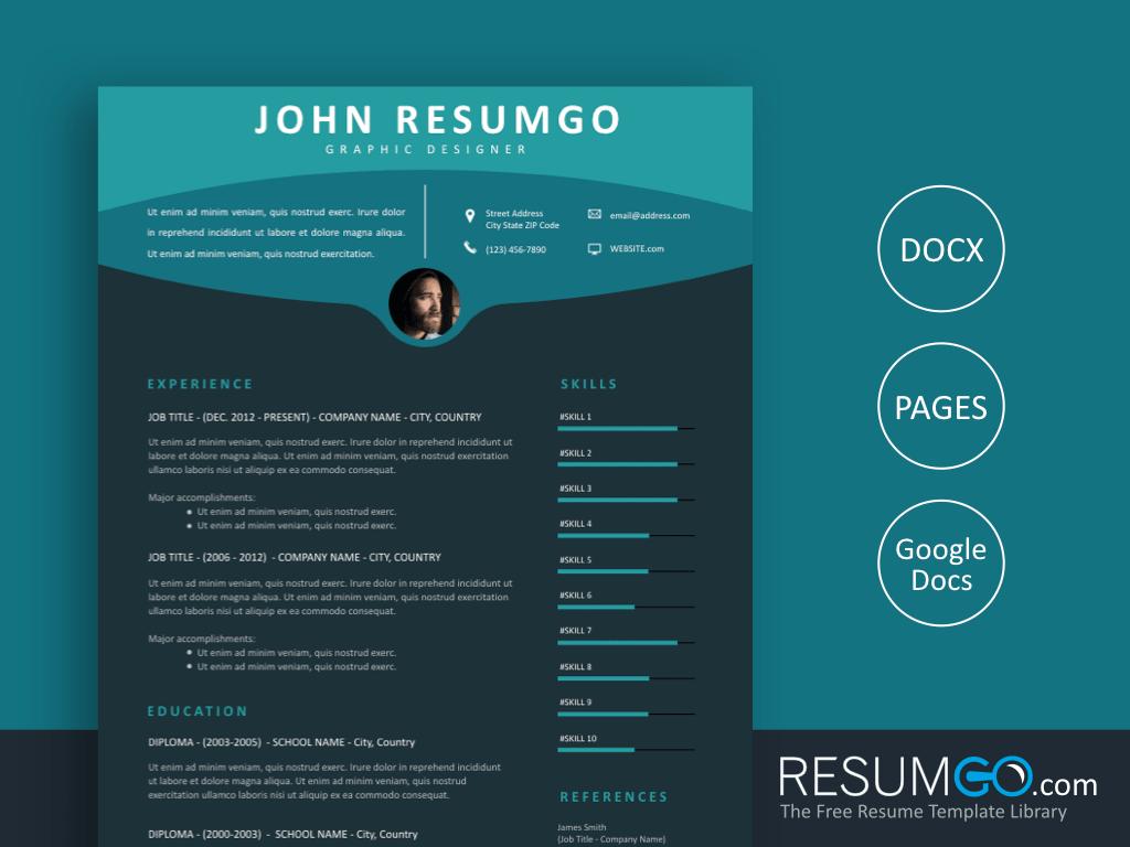 MAEJA - Free Premium Modern Resume Template - ResumGO
