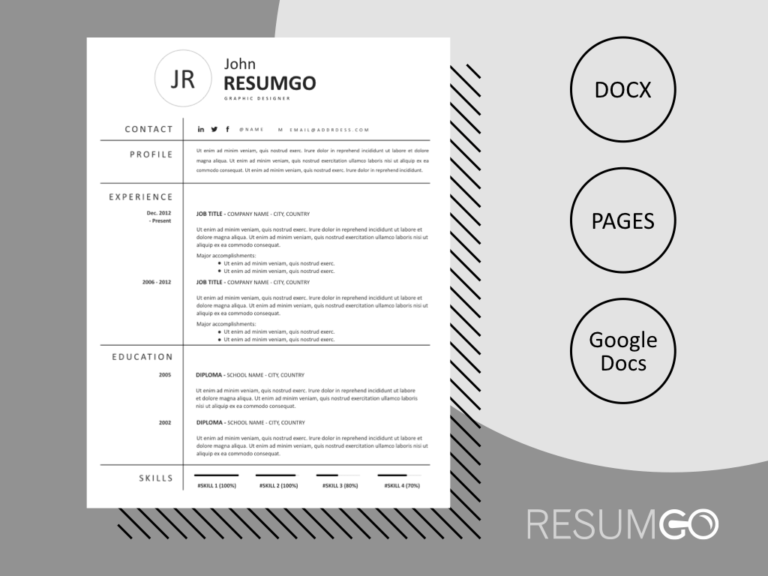 NOMIKI - Free Simple Grid Resume Template - ResumGO
