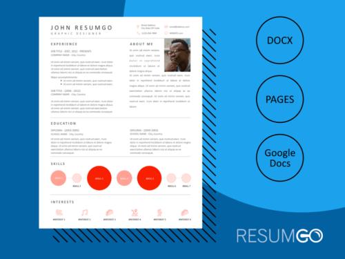 OEDIPUS - Free Smart Modern Resume Template - ResumGO