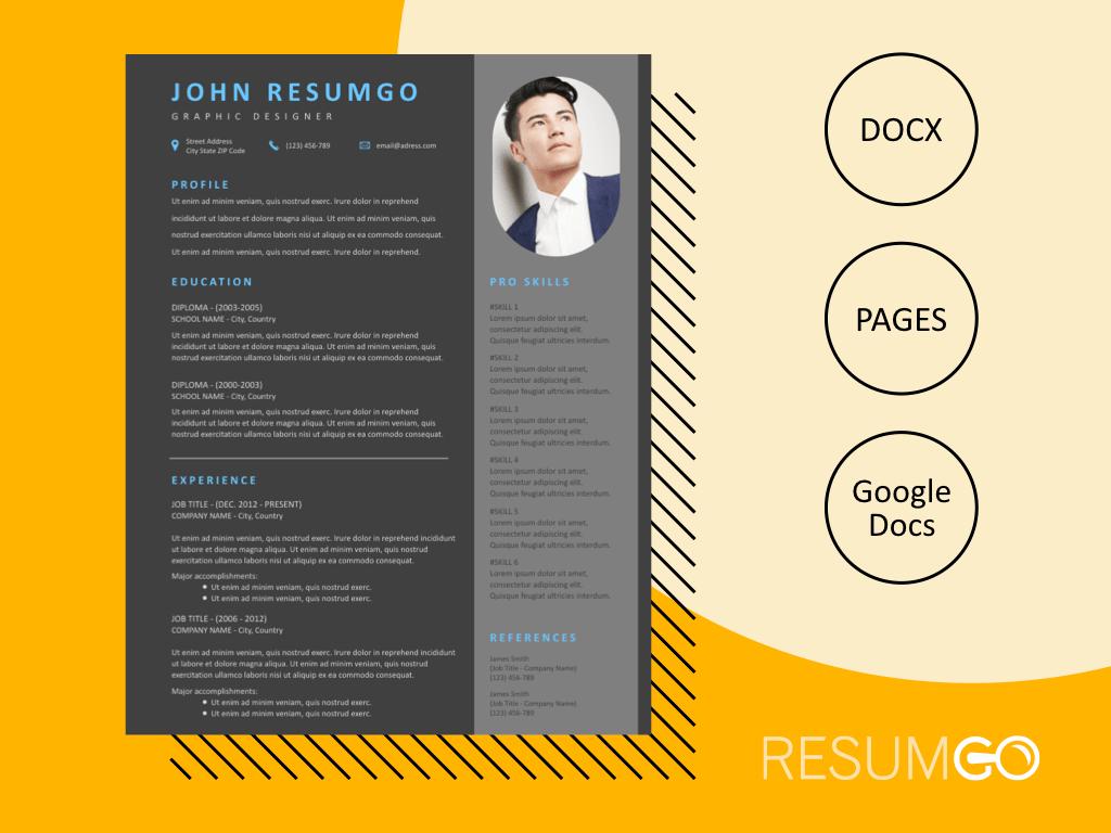 THEMIS - Free Modern Dark Resume Template - ResumGO
