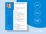 ALEXIS - Free Blue Sidebar Resume Template - ResumGO