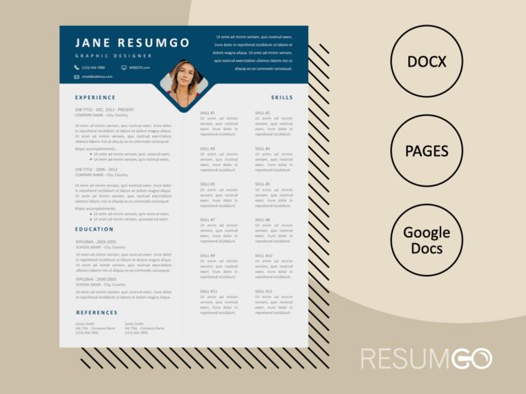 DAMON - Free Skills-Oriented Resume Template - ResumGO