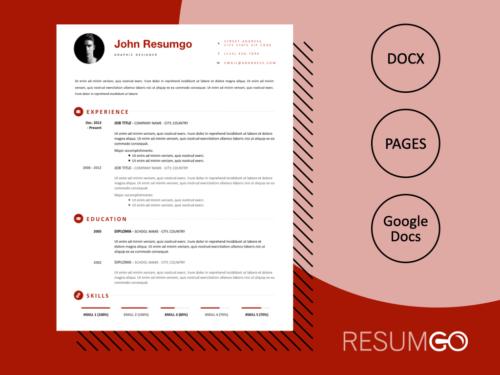 IASON - Free Simple Yet Modern Resume Template - ResumGO