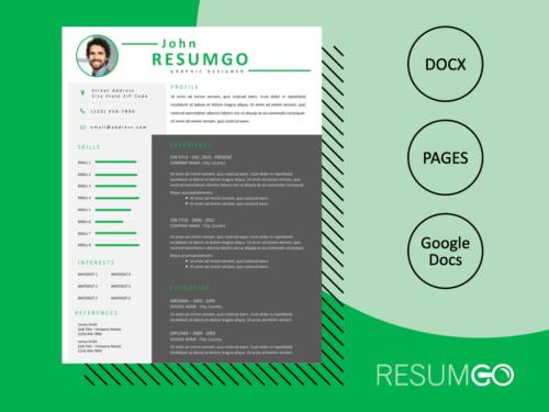 IDUMA - Free Clean and Modern Resume Template - ResumGO
