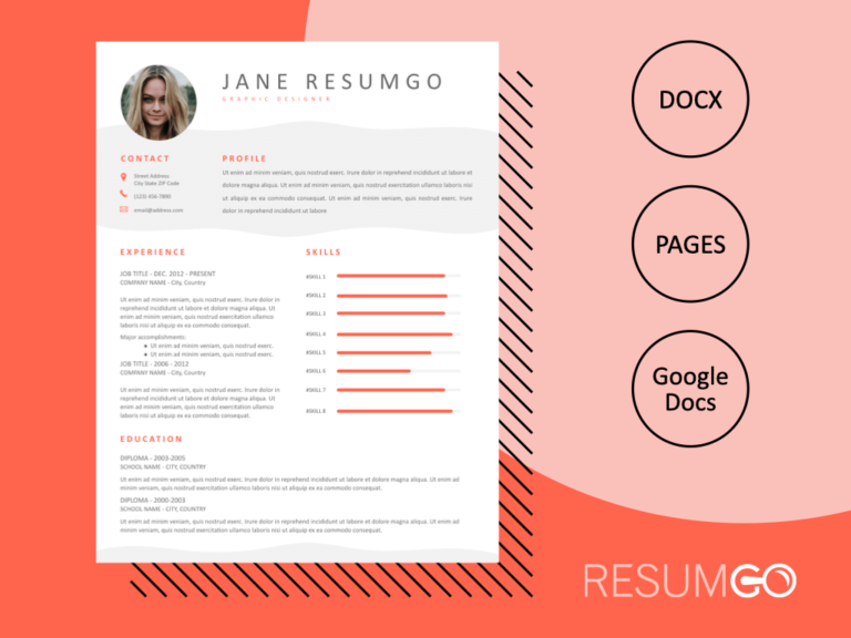 HERMIA - Free Professional and Modern Resume Template - ResumGO