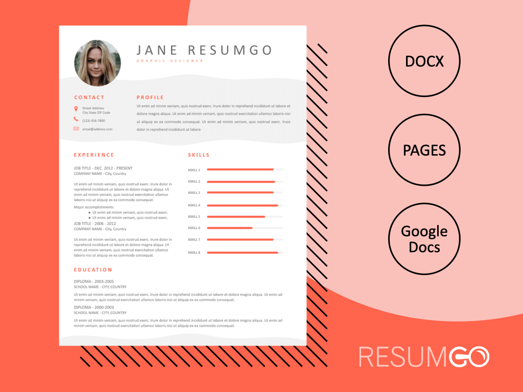 HERMIA - Free Professional and Modern Resume Template - ResumGO
