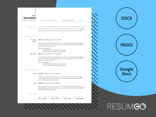 LEANDROS - Free Simple Yet Modern Resume Template - ResumGO