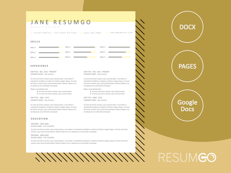 AGNETA - Free Clean and Modern Resume Template - ResumGO