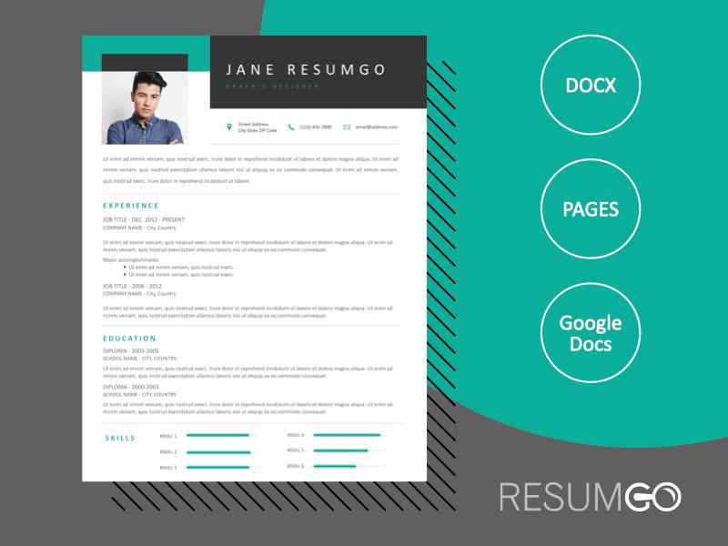 DEMETER - Free Professional 1-Column Resume Template - ResumGO