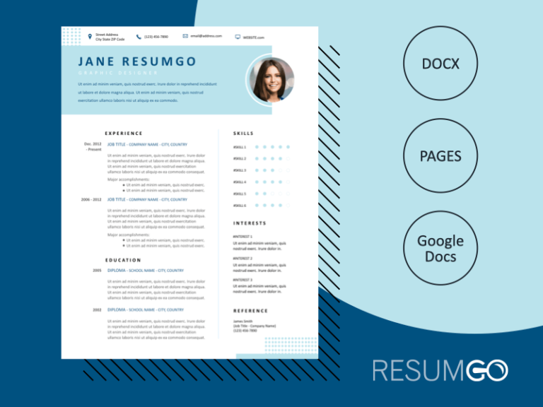 HERO - Free Elegant Resume Template - ResumGO