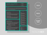 ZEPHYR - Free Dark Grid Resume Template - ResumGO