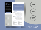 HECUBA - Free Modern Resume Template with a Box Design - ResumGO