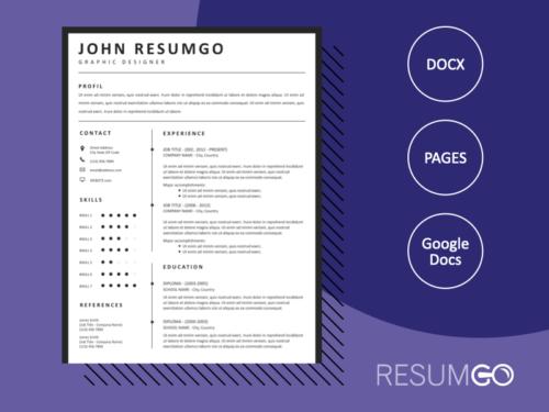HORUS - Free Simple and Elegant Resume Template - ResumGO