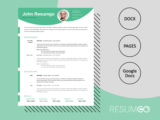 KRONOS - Free Modern Resume Template with a colorful header - ResumGO