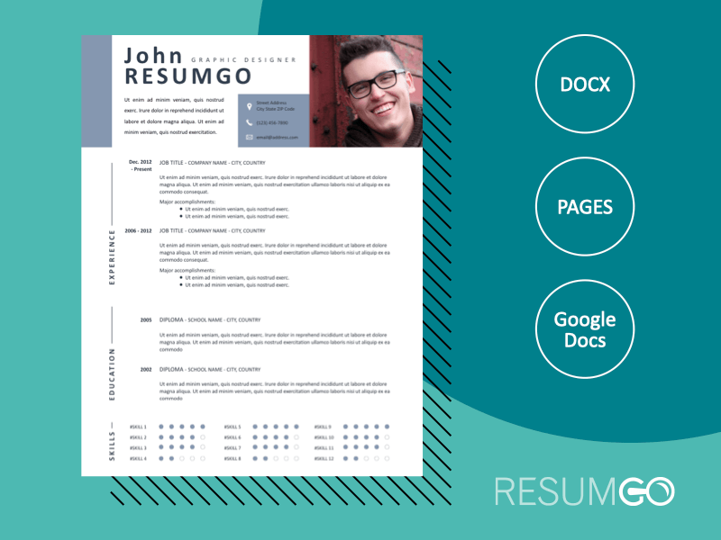 MNEME - Free Modern and Dynamic Resume Template - ResumGO