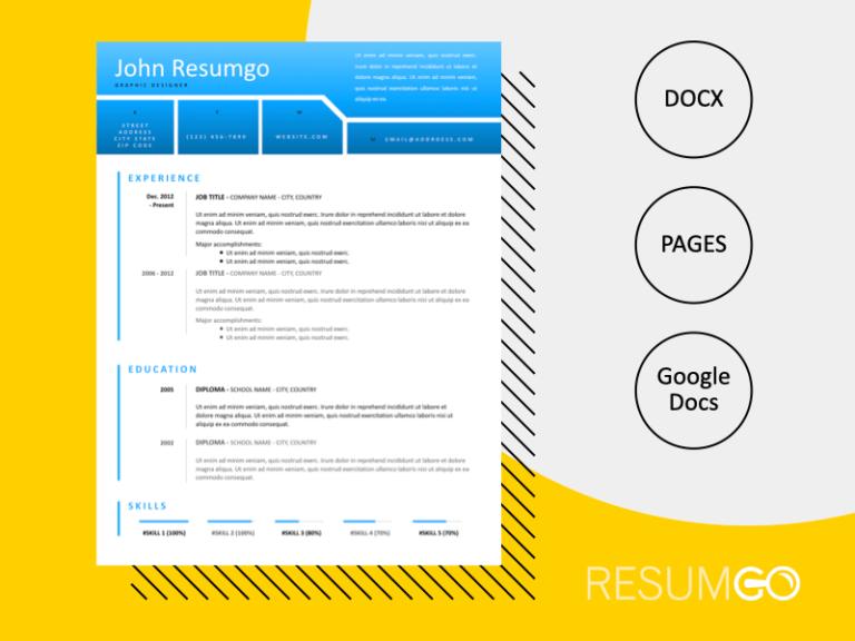 NEMESIS - Free Modern and Distinctive Resume Template - ResumGO