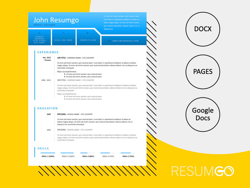 NEMESIS - Free Modern and Distinctive Resume Template - ResumGO