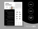 SOUSANNA - Free Modern Resume Template with Rectangles - ResumGO