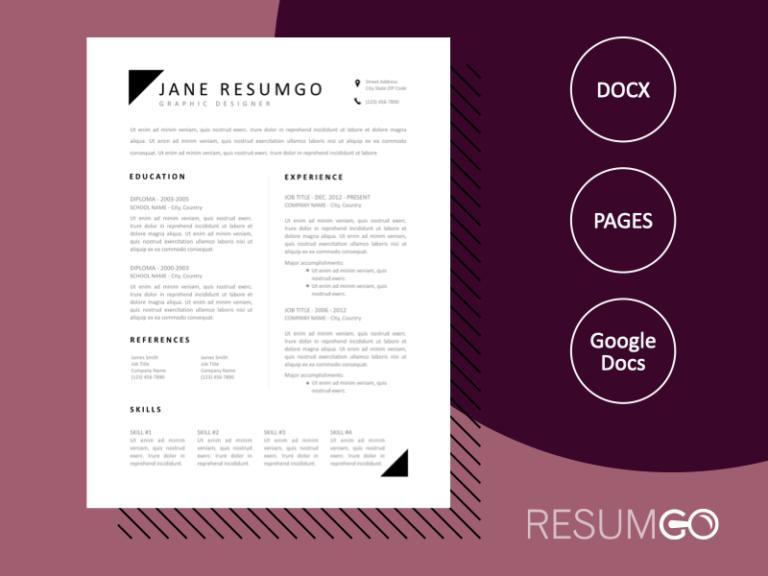VASILIKI - Free Classic Black & White Resume Template - ResumGO