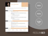 GLYKERIA - Free Clear Modern Resume Template - ResumGO
