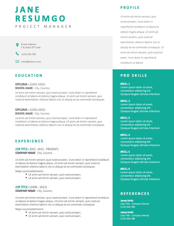 IPHIGENIA - Free Modern Green Resume Template