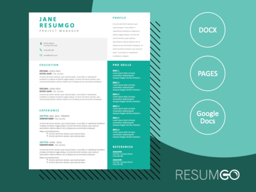 IPHIGENIA - Free Modern Green Resume Template - ResumGO