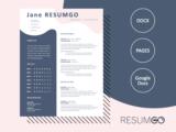 KALLISTO - Free Creative Resume Template with curvy lines - ResumGO