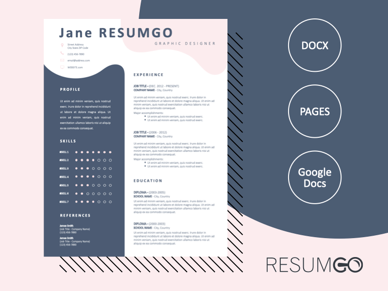 Free Modern Resume Templates For Word Google Docs And Pages