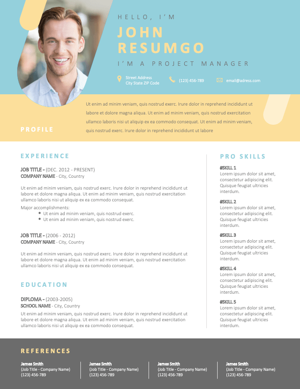 LEFTERIS - Free Creative Resume Template with photo