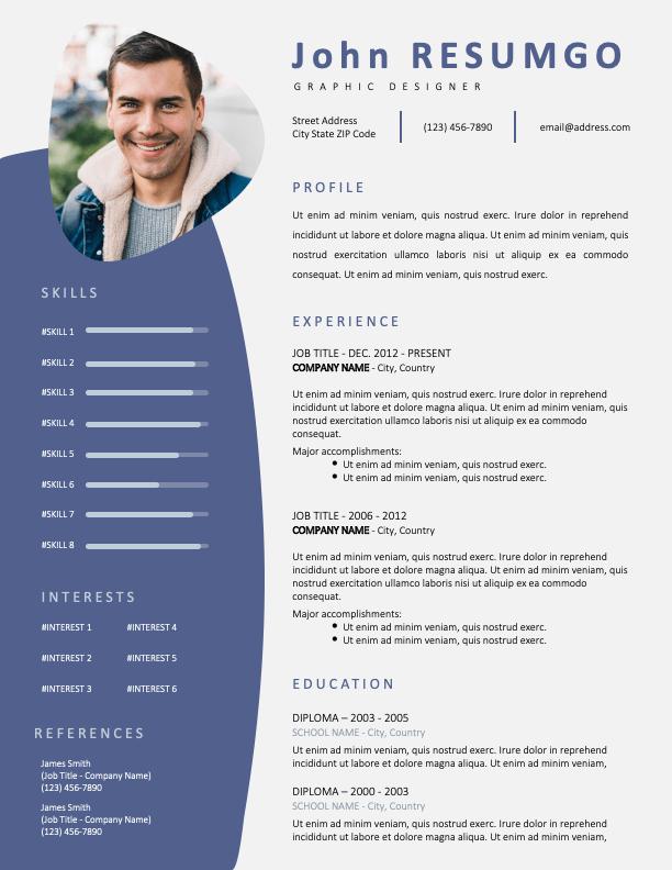 ALEXANDRA - Free Modern Resume Template with Photo