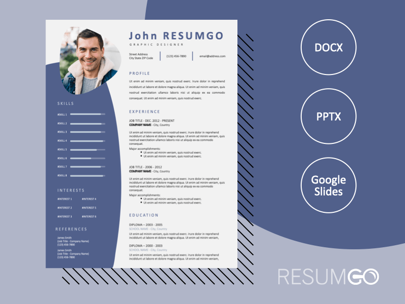 ALEXANDRA - Free Modern Resume Template with Photo - ResumGO