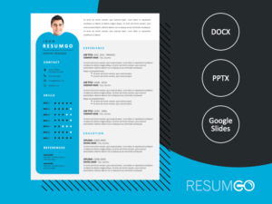 ALVALADE - Free Original Resume Template with photo - ResumGO